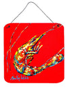 Buy this Shrimp Backwards Then Forwards Aluminium Metal Wall or Door Hanging Prints