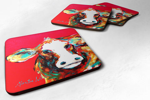 Buy this Set of 4 Cow Caught Red Handed Foam Coasters