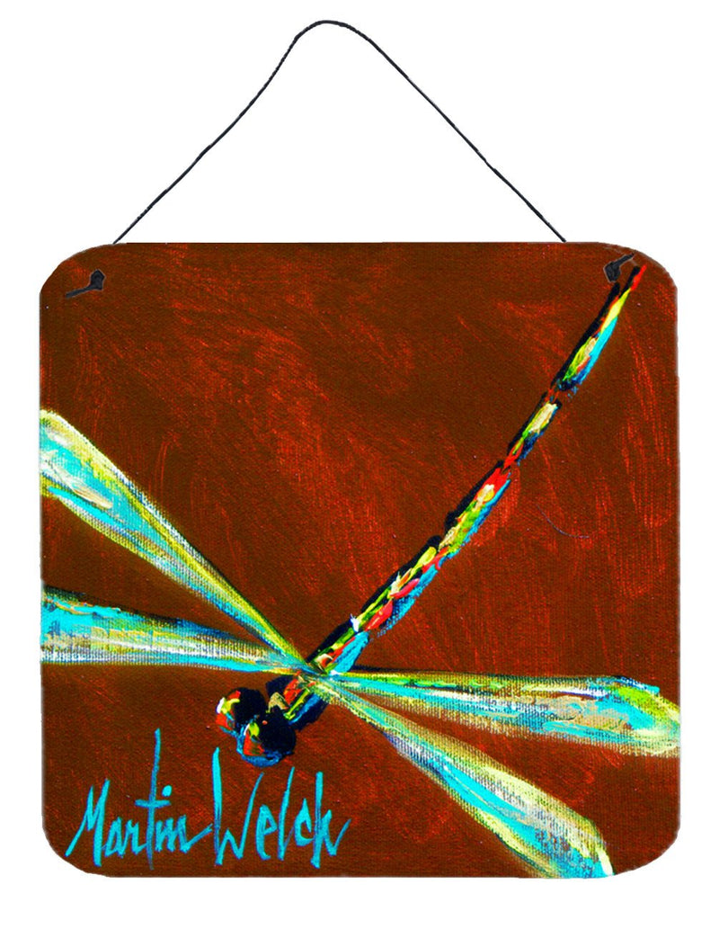 Buy this Insect - Dragonfly Chocolate Chip Aluminium Metal Wall or Door Hanging Prints