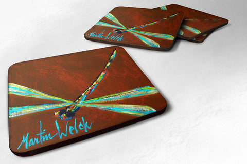 Buy this Set of 4 Insect - Dragonfly Chocolate Chip Foam Coasters