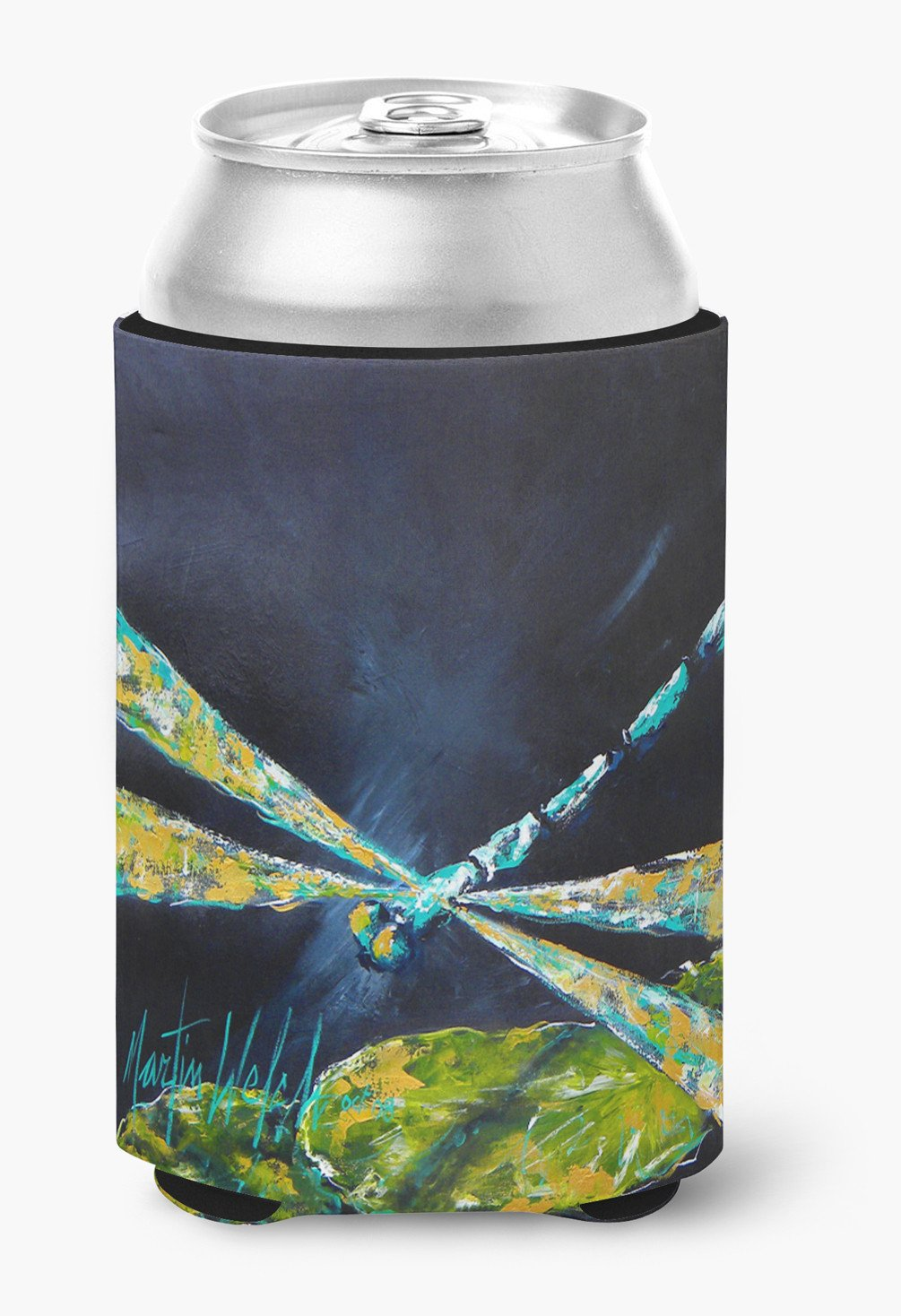 Insect - Dragonfly Night Flight Dark Blue Can or Bottle Beverage Insulator Hugger by Caroline's Treasures