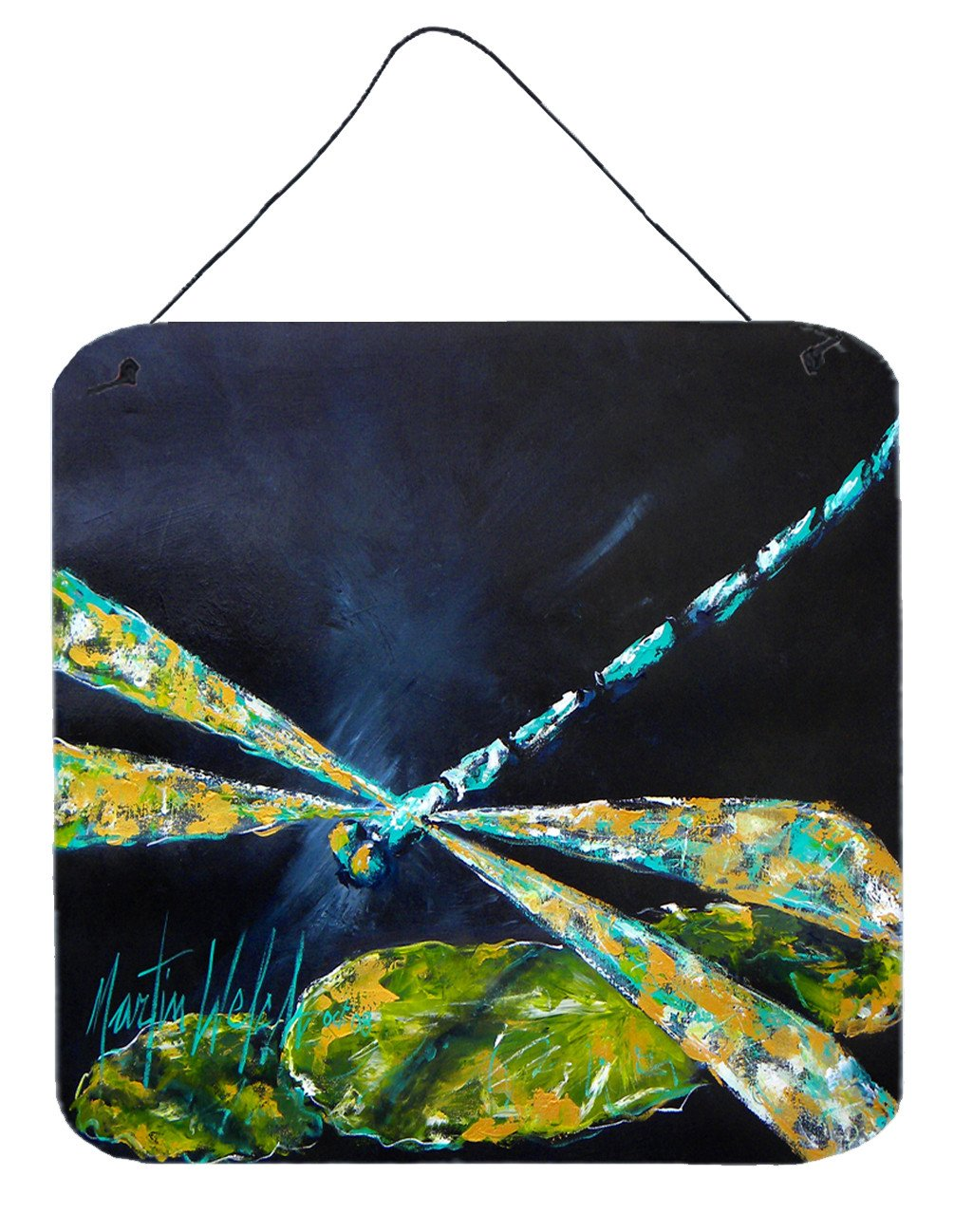 Insect - Dragonfly Night Flight Dark Blue Wall or Door Hanging Prints by Caroline's Treasures