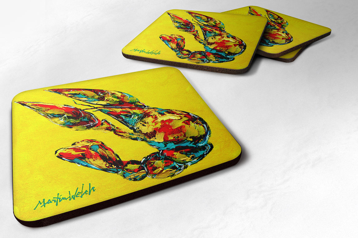 Buy this Set of 4 Crawfish Lemon Juice Foam Coasters