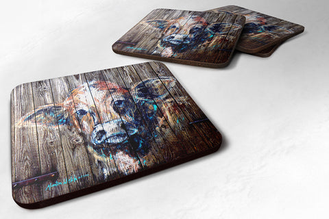 Buy this Set of 4 Cow Moo Shine Foam Coasters