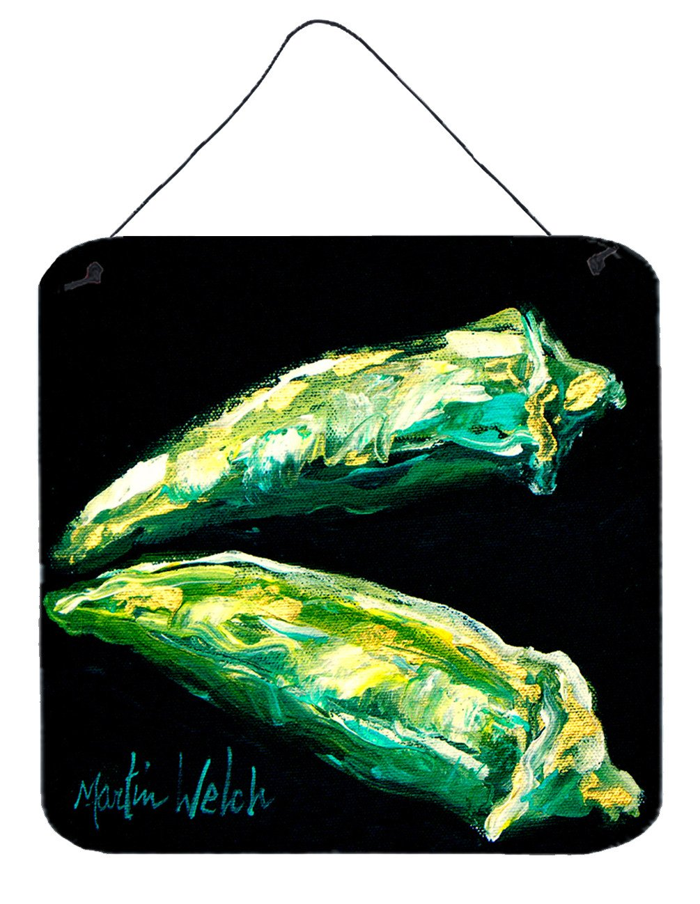 Vegetables - Okra Gumbo Aluminium Metal Wall or Door Hanging Prints by Caroline's Treasures