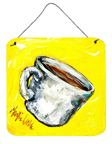 Buy this Coffee One Cup Aluminium Metal Wall or Door Hanging Prints