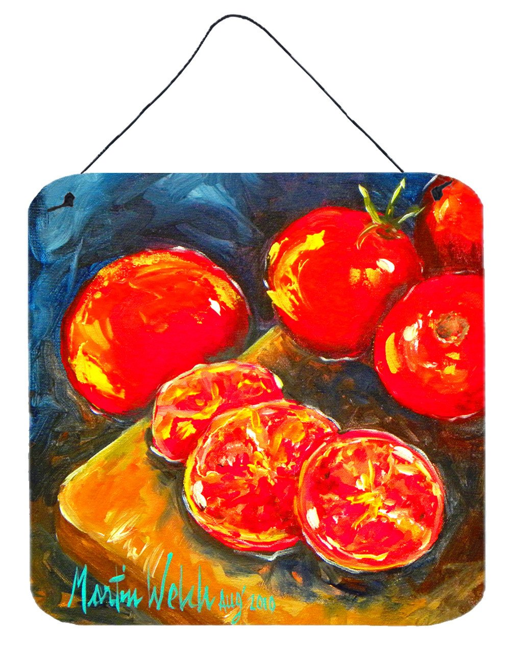 Buy this Vegetables - Tomato Slice It Up Aluminium Metal Wall or Door Hanging Prints