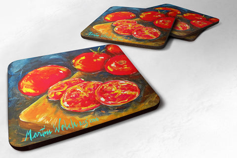 Buy this Set of 4 Vegetables - Tomato Slice It Up Foam Coasters