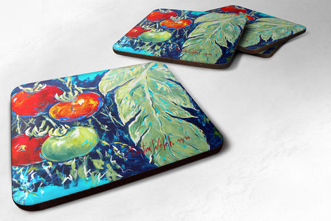 Buy this Set of 4 Vegetables - Tomato Tomaeto-Tomaato Foam Coasters