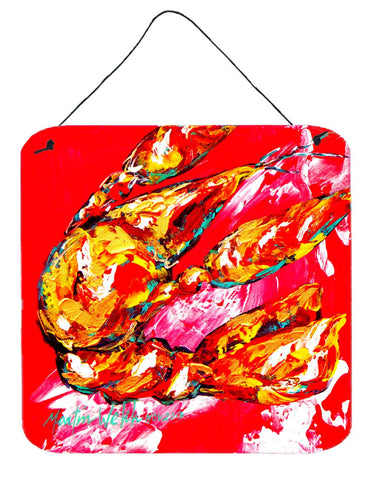Buy this Crawfish Too Hot Aluminium Metal Wall or Door Hanging Prints
