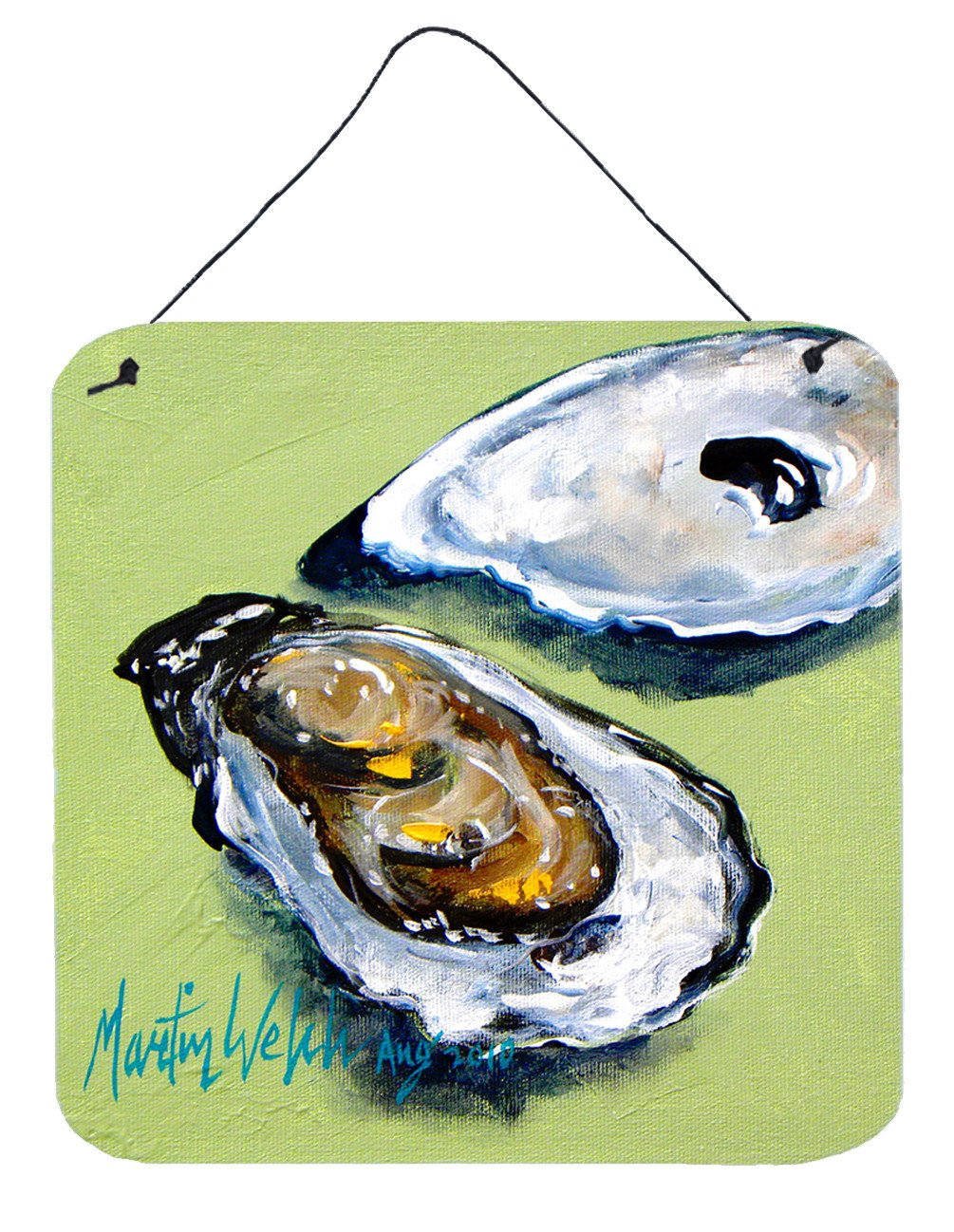 Buy this Oyster Two Shells Aluminium Metal Wall or Door Hanging Prints