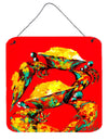 Crab Two Tone Aluminium Metal Wall or Door Hanging Prints by Caroline's Treasures