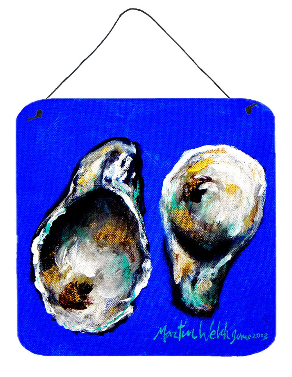 Buy this Oyster Up and Down Aluminium Metal Wall or Door Hanging Prints