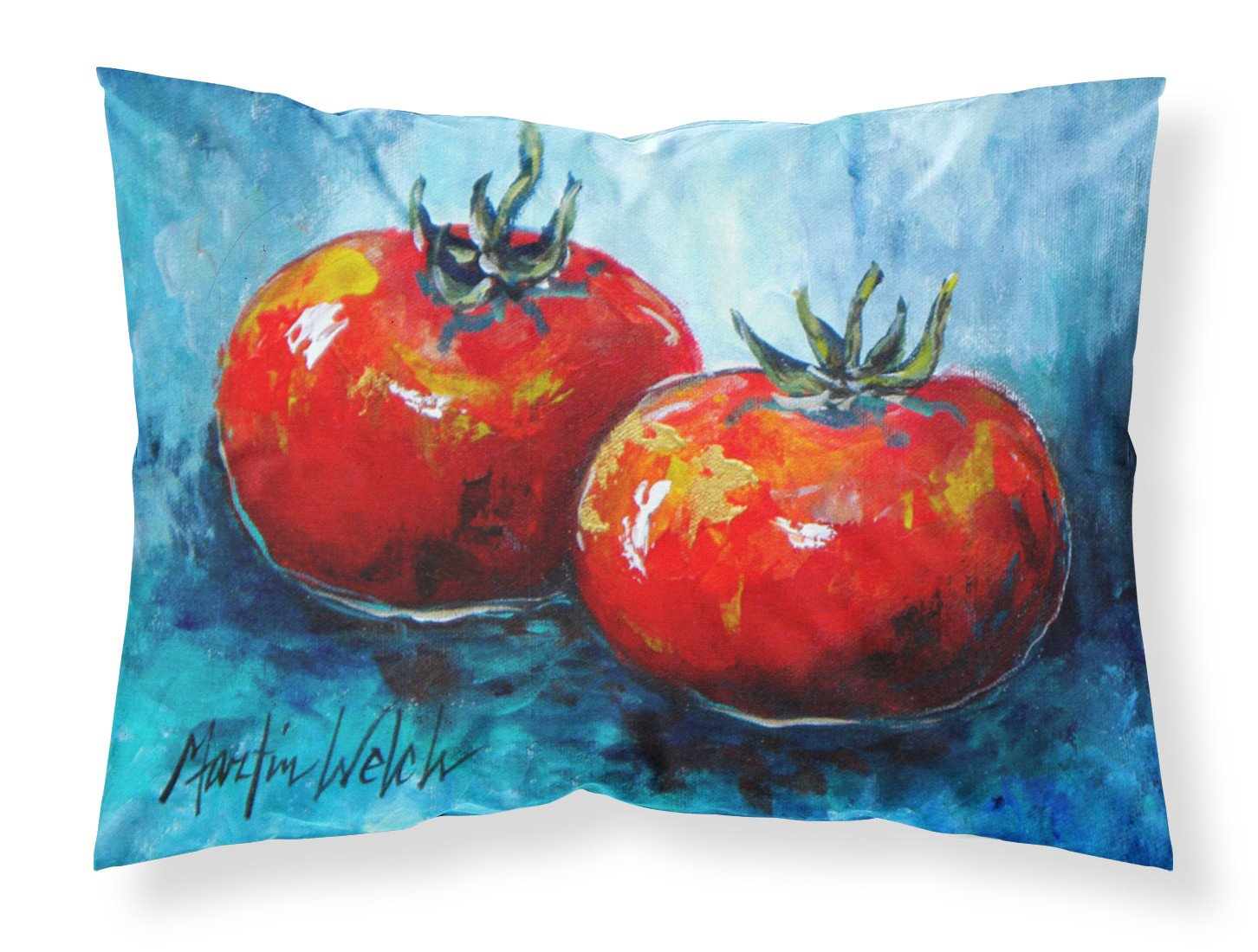 Vegetables - Tomatoes Red Toes Moisture wicking Fabric standard pillowcase by Caroline's Treasures