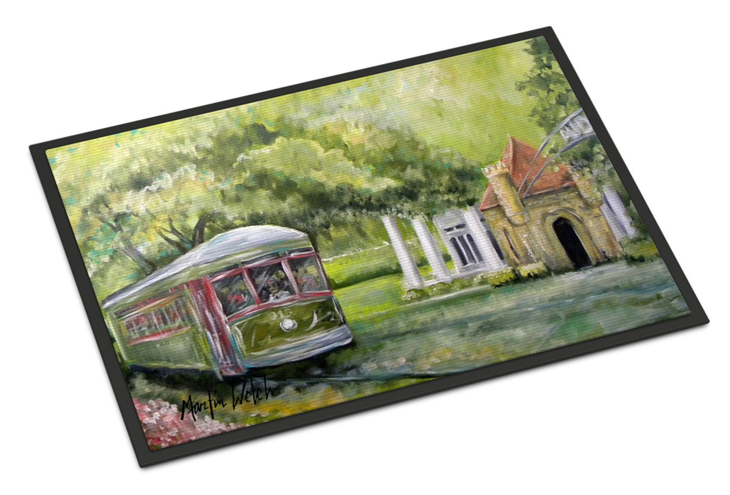Streetcar Next Stop Audubon Park Indoor or Outdoor Mat 18x27 Doormat by Caroline's Treasures