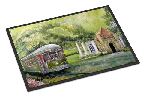 Buy this Streetcar Next Stop Audubon Park Indoor or Outdoor Mat 18x27 Doormat