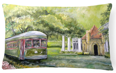 Buy this Streetcar Next Stop Audubon Park   Canvas Fabric Decorative Pillow