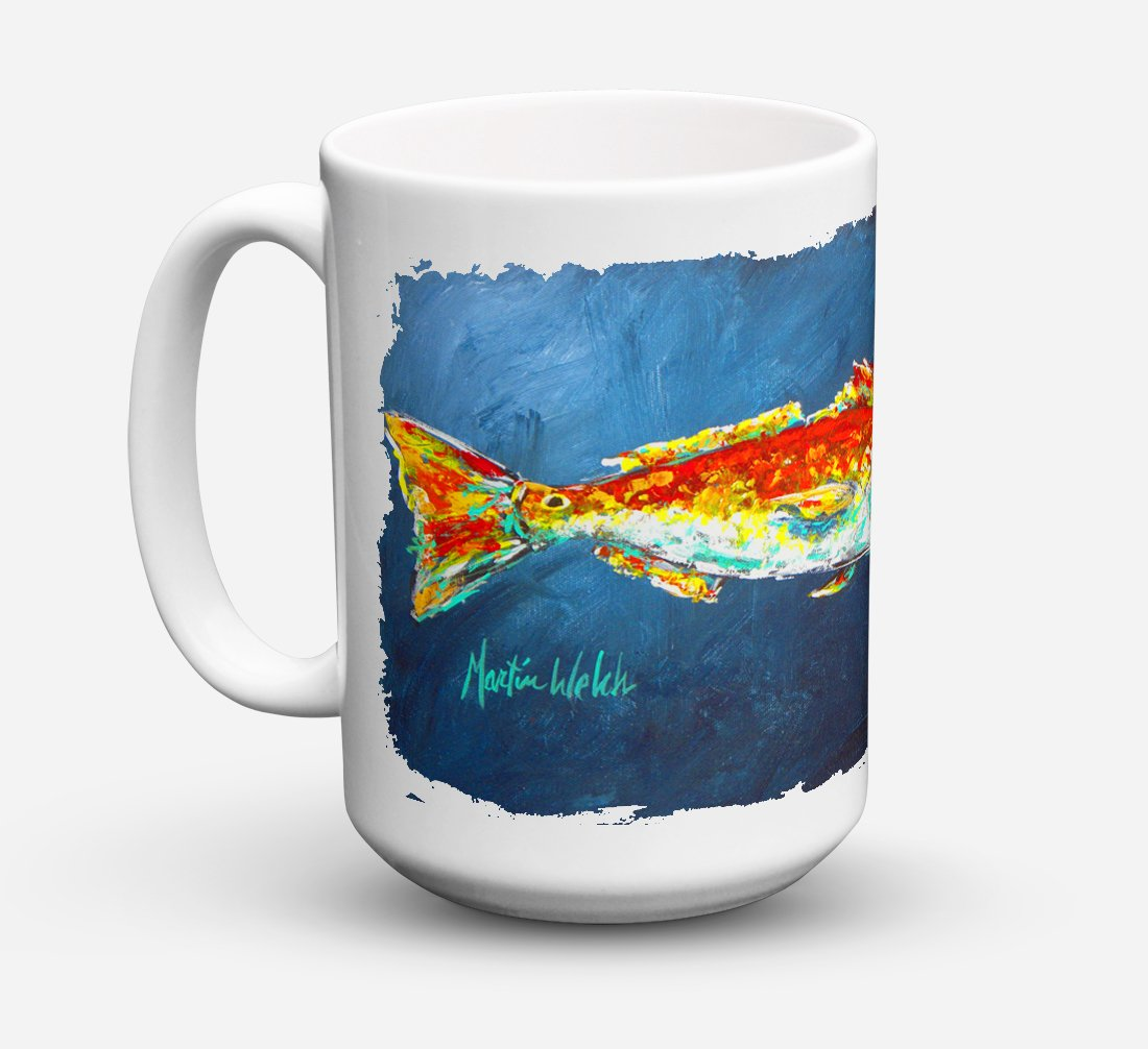 Buy this Fish - Red Fish Red for Jarett Dishwasher Safe Microwavable Ceramic Coffee Mug 15 ounce MW1093CM15