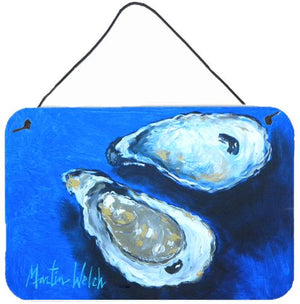 Buy this Oysters Seafood Four Aluminium Metal Wall or Door Hanging Prints