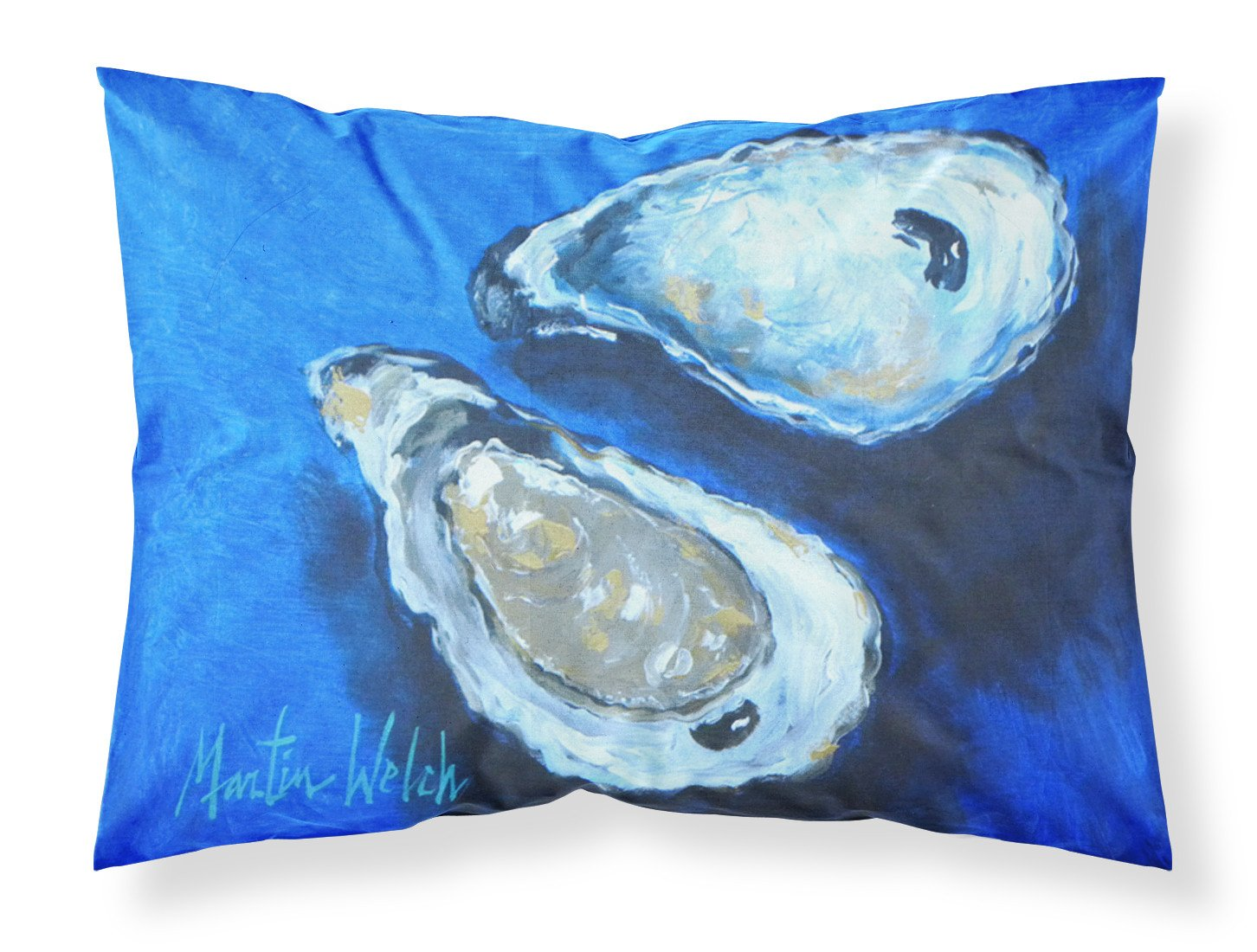 Oysters Seafood Four Moisture wicking Fabric standard pillowcase by Caroline's Treasures