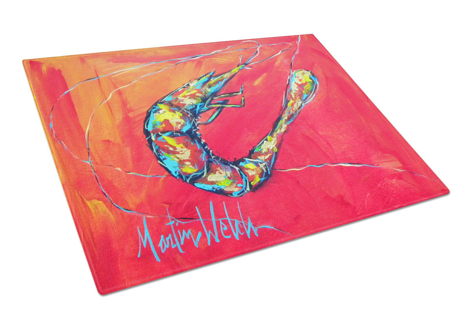 Shrimp Seafood Three Glass Cutting Board Large by Caroline's Treasures