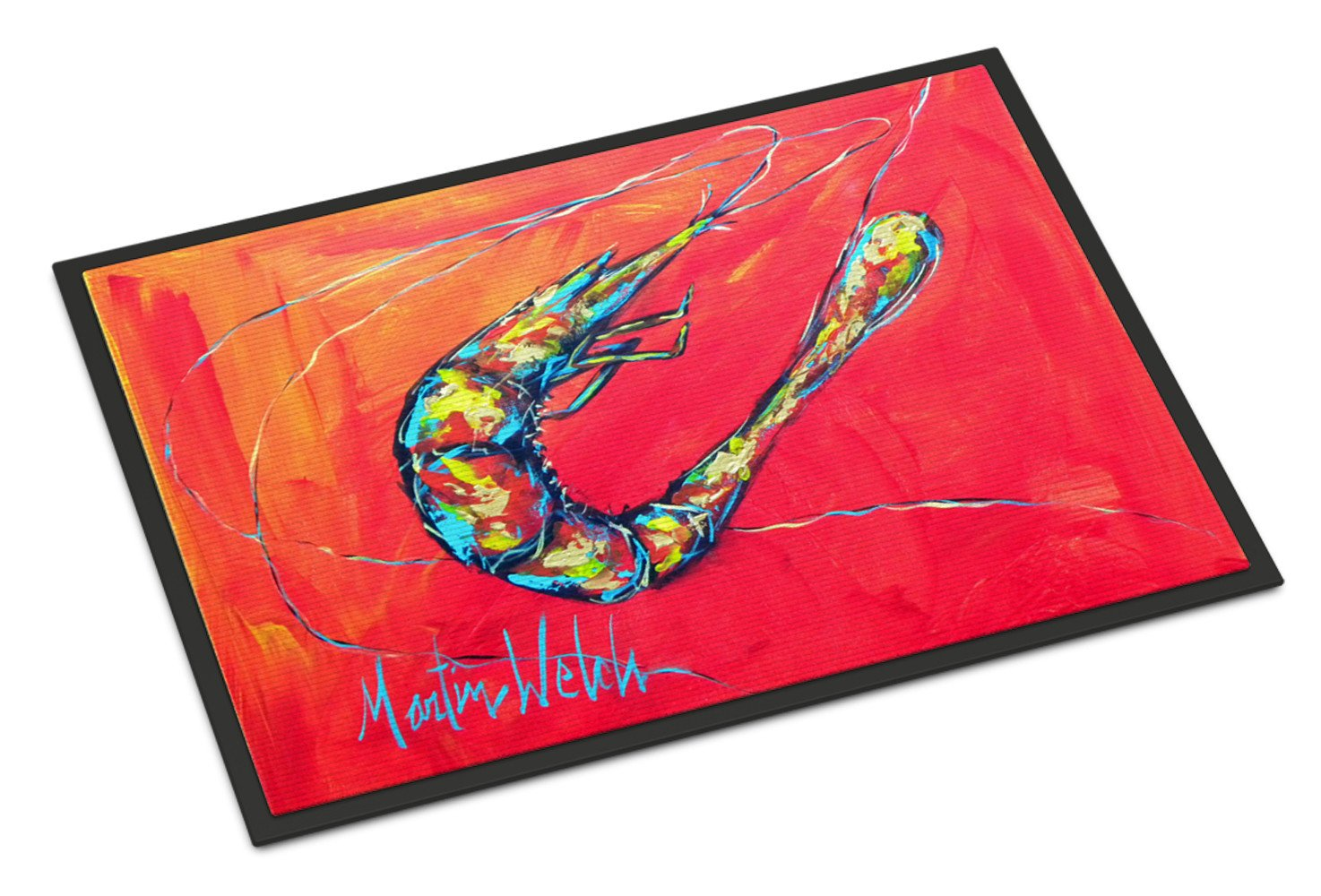 Shrimp Seafood Three Indoor Or Outdoor Mat 18x27 Doormat