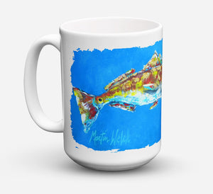 Buy this Fish - Red Fish Seafood Two Dishwasher Safe Microwavable Ceramic Coffee Mug 15 ounce MW1098CM15