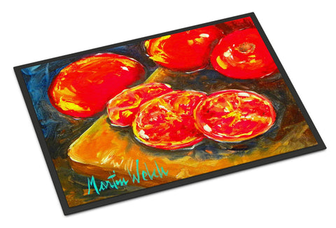 Buy this Vegetables - Tomatoes Slice It Up Indoor or Outdoor Mat 18x27 Doormat