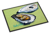 Oysters Two Shells Indoor or Outdoor Mat 24x36 Doormat - the-store.com