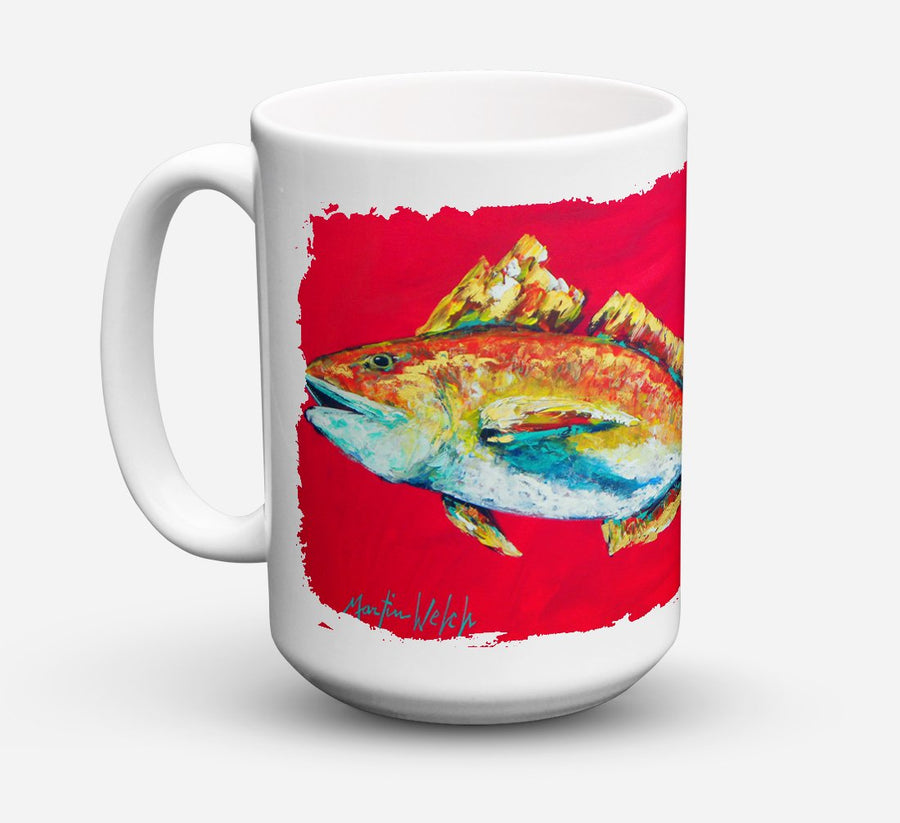 Buy this Fish - Red Fish Woo Hoo Dishwasher Safe Microwavable Ceramic Coffee Mug 15 ounce MW1103CM15