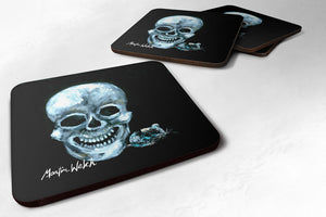 Buy this Set of 4 Ekk A Meece Skull and Mouse Foam Coasters
