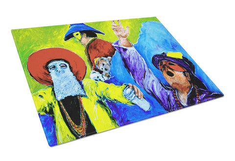 Buy this Mardi Gras  Glass Cutting Board Large