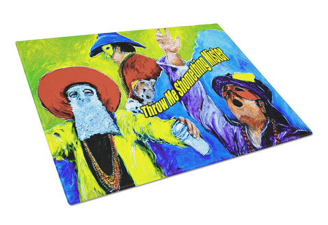 Buy this Mardi Gras Throw me something mister Glass Cutting Board Large
