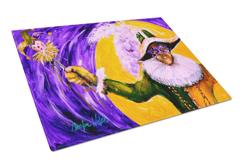Buy this Mardi Gras Hey Mister Glass Cutting Board Large