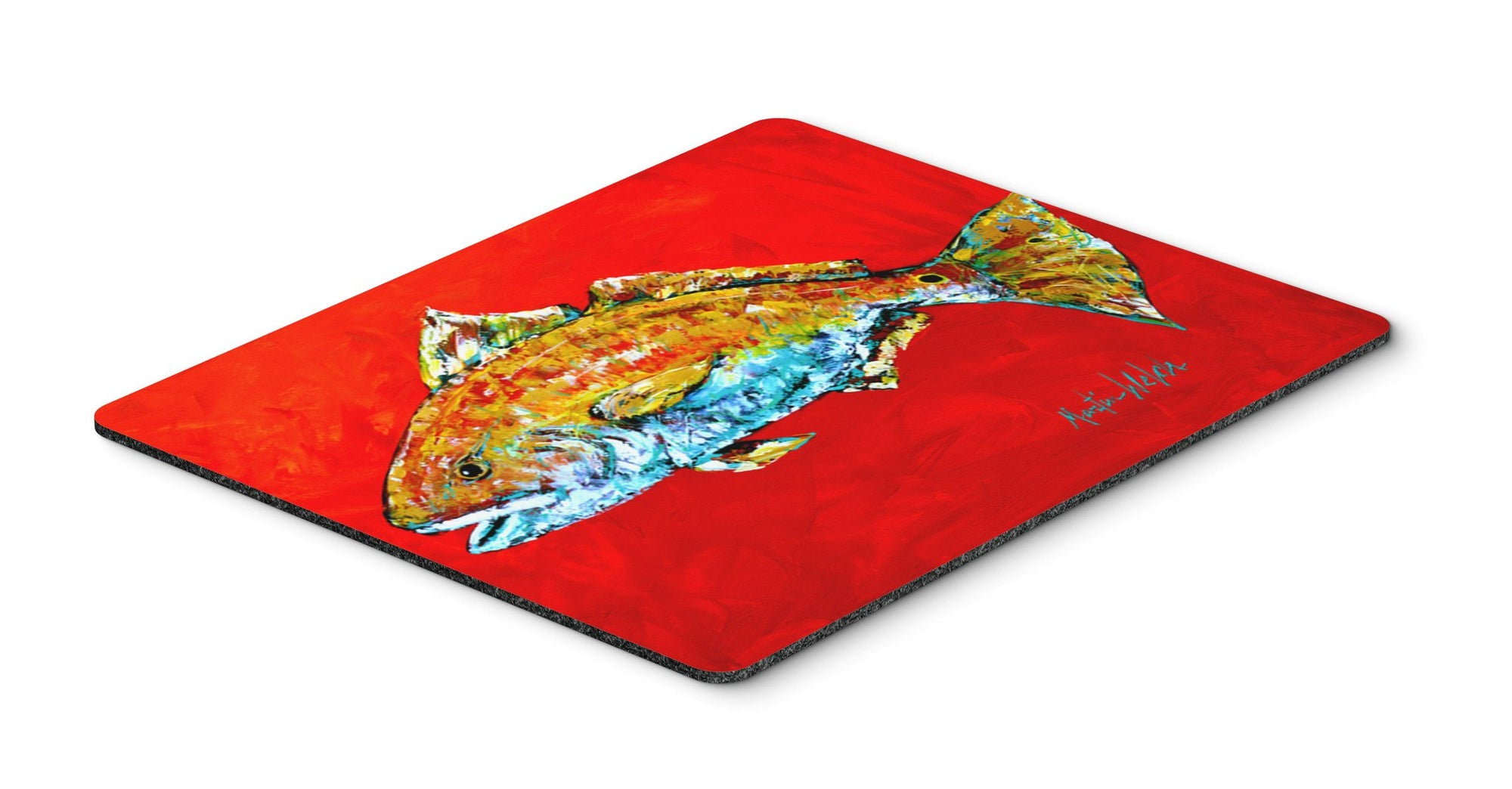 Fish - Red Fish Red Head Mouse Pad, Hot Pad or Trivet by Caroline's Treasures