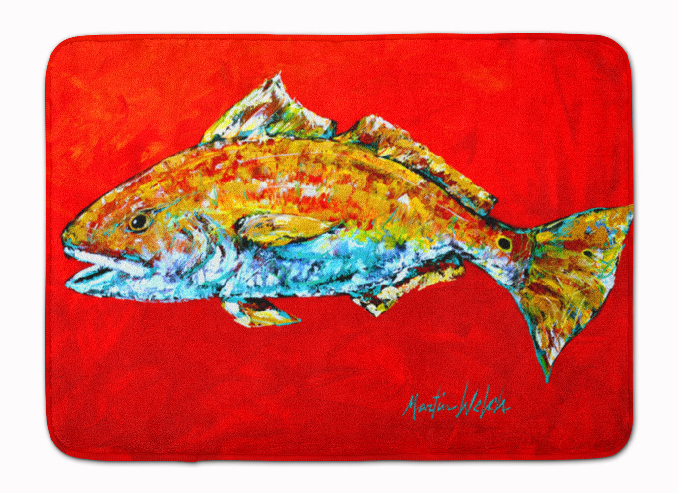 Fish - Red Fish Red Head Machine Washable Memory Foam Mat MW1111RUG by Caroline's Treasures