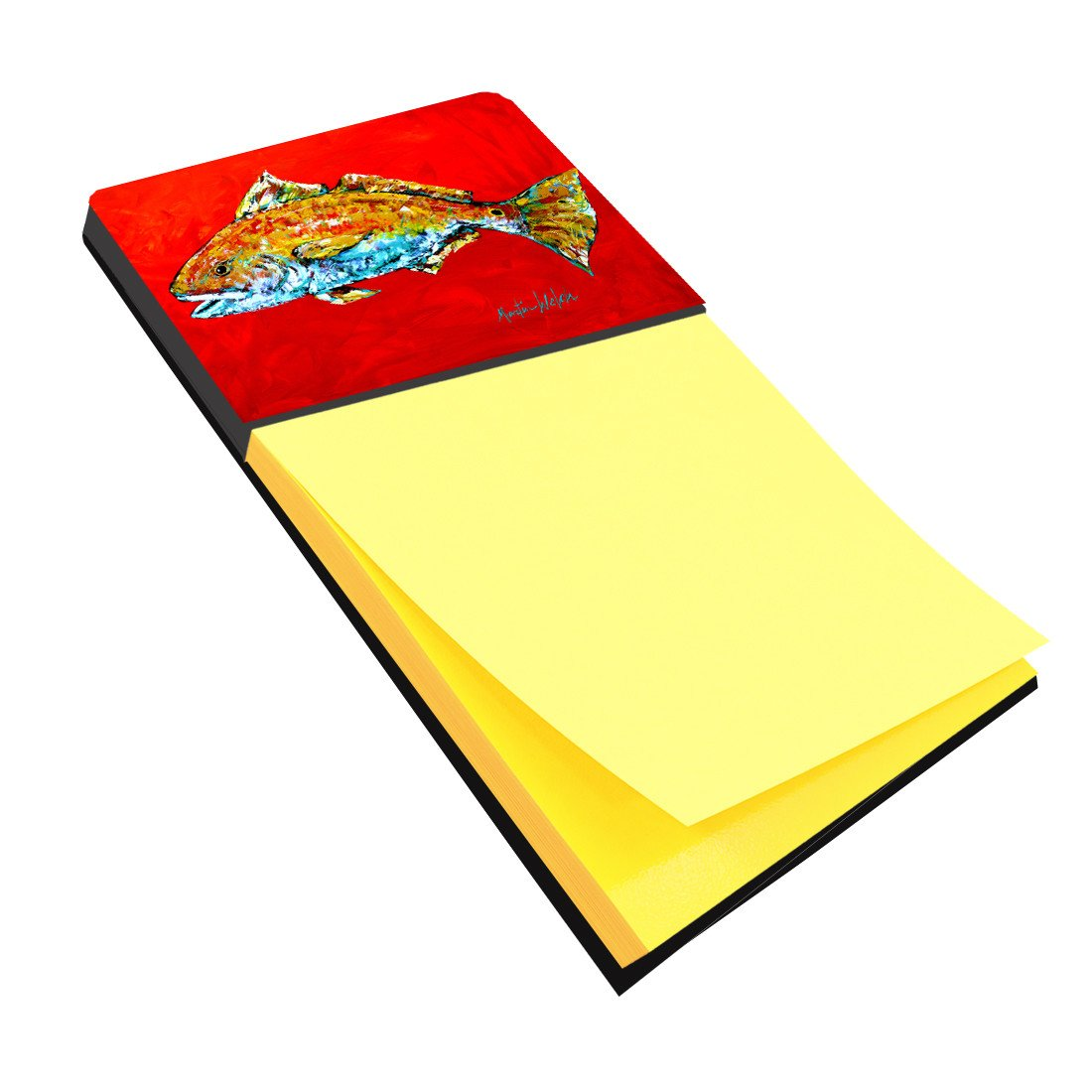 Fish - Red Fish Red Head Refiillable Sticky Note Holder or Postit Note Dispenser MW1111SN by Caroline's Treasures