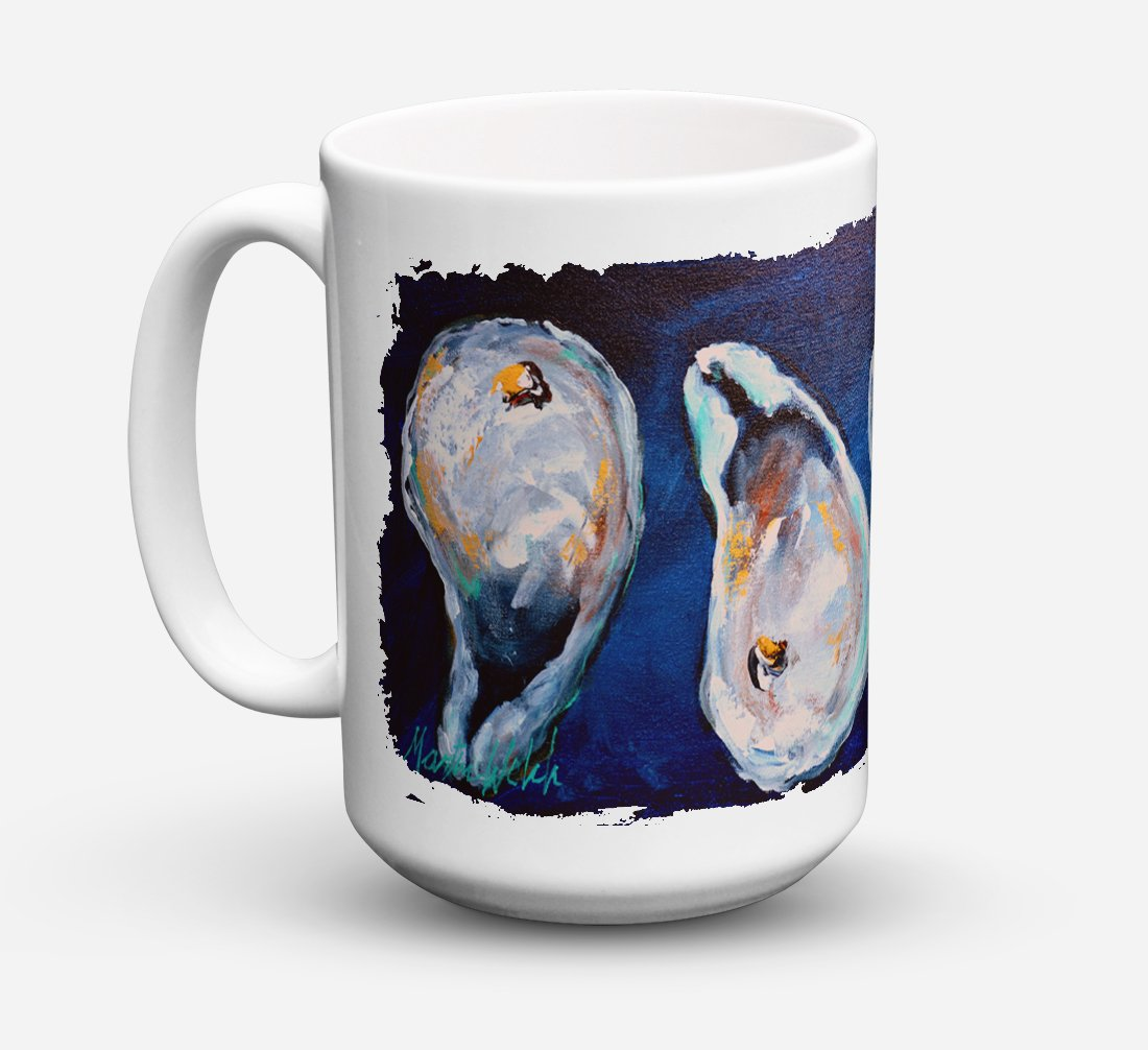 Buy this Oysters Give Me More Dishwasher Safe Microwavable Ceramic Coffee Mug 15 ounce MW1112CM15