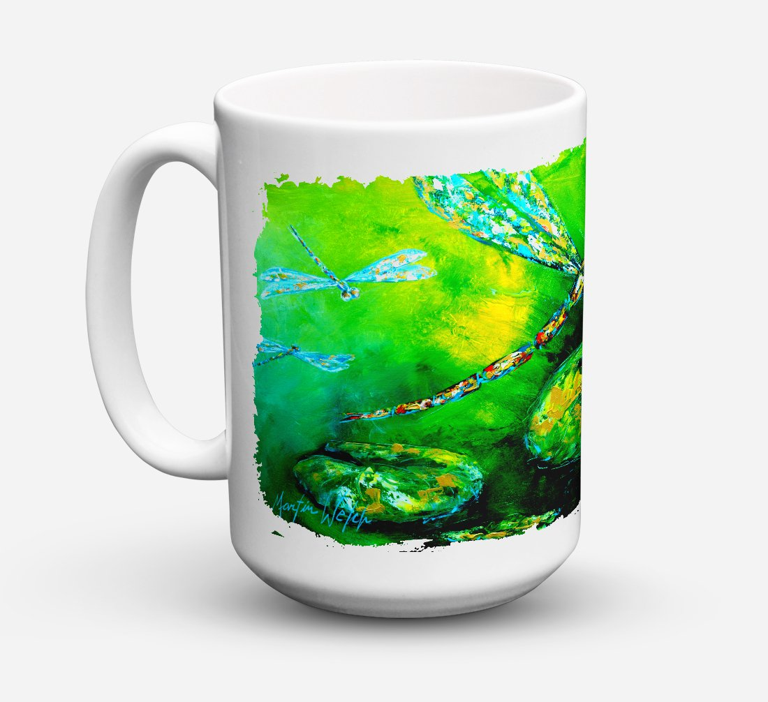 Buy this Dragonfly Summer Flies Dishwasher Safe Microwavable Ceramic Coffee Mug 15 ounce MW1114CM15
