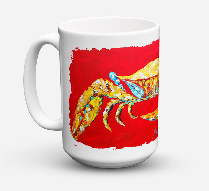 "Buy this ""Crab Blue on Red, Sr Dishwasher Safe Microwavable Ceramic Coffee Mug 15 ounce MW1116CM15"""
