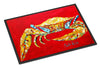 Crab Blue on Red, Sr. Indoor or Outdoor Mat 24x36 Doormat - the-store.com