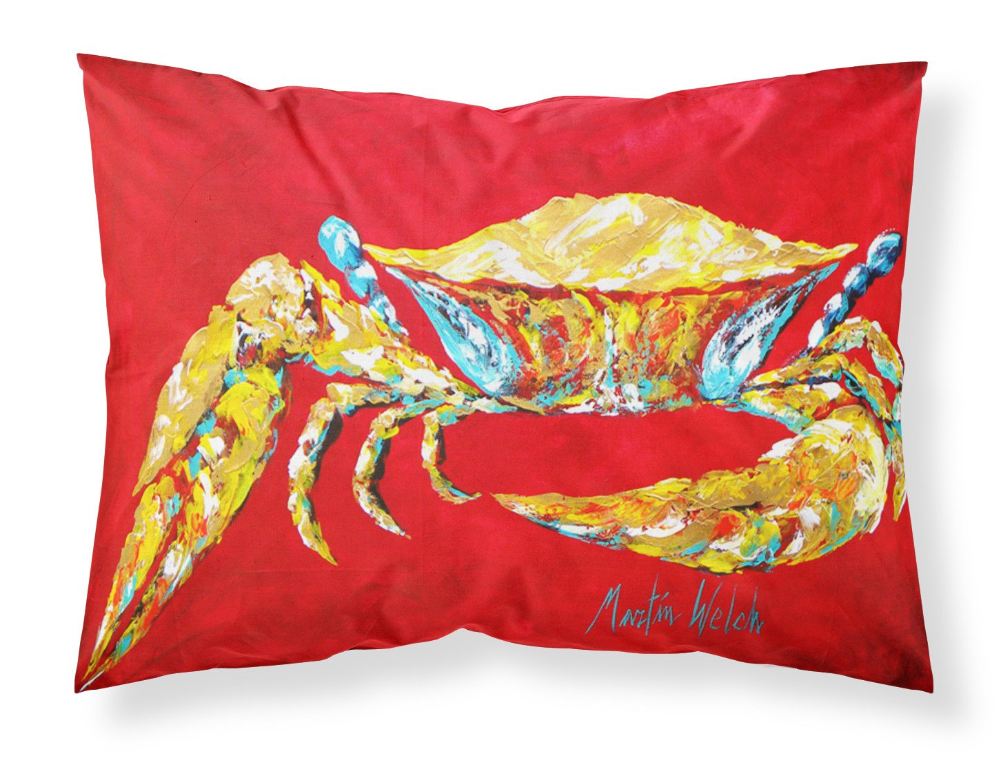 Buy this Crab Blue on Red, Sr. Moisture wicking Fabric standard pillowcase