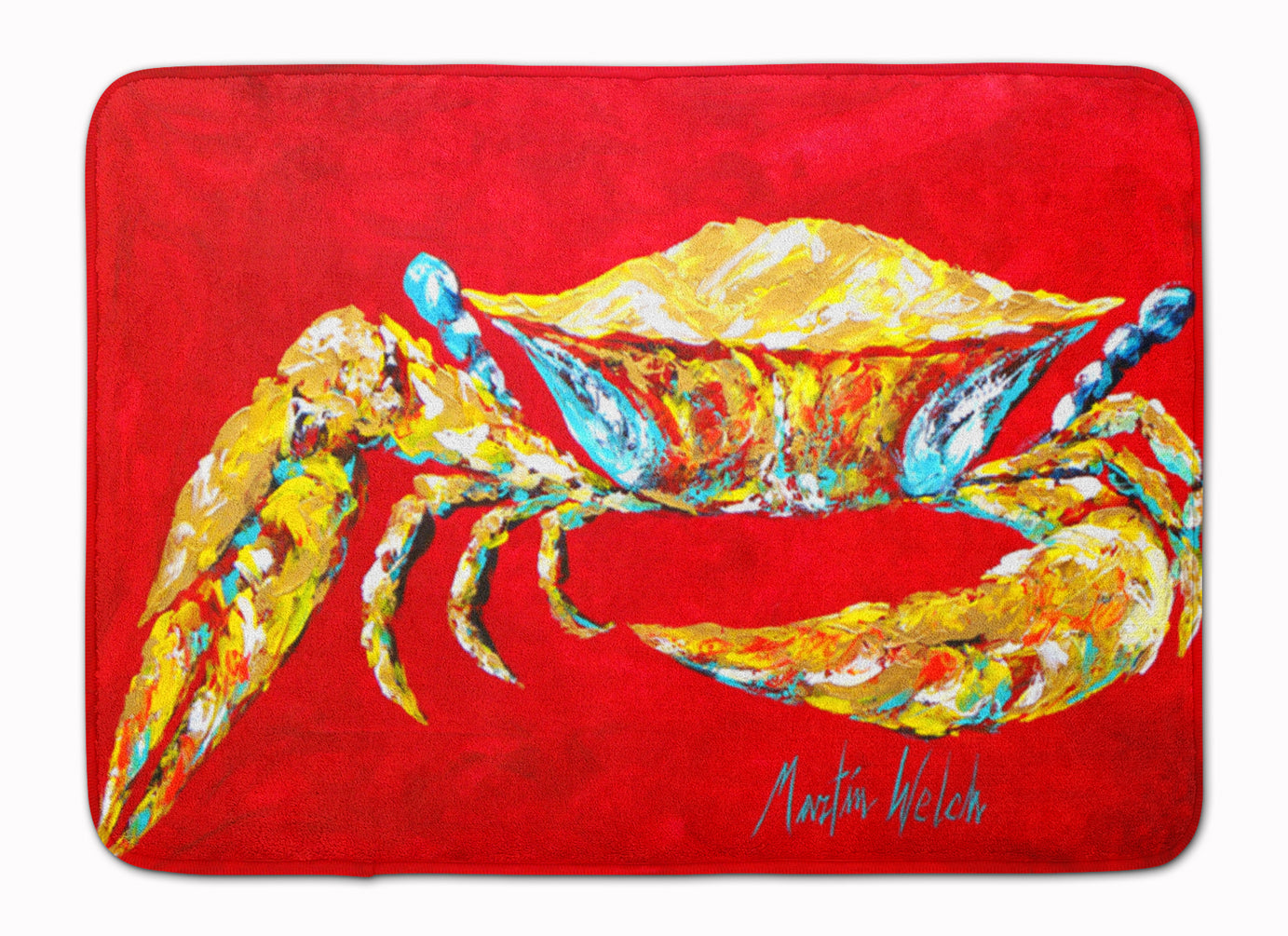 Buy this Crab Blue on Red, Sr Machine Washable Memory Foam Mat MW1116RUG