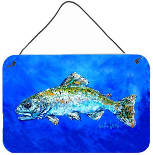 Buy this Fish Headed Downstream Aluminium Metal Wall or Door Hanging Prints