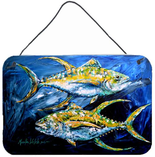 Buy this Fish - Tuna Tuna Blue Aluminium Metal Wall or Door Hanging Prints