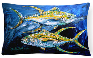 Buy this Fish - Tuna Tuna Blue   Canvas Fabric Decorative Pillow
