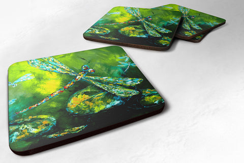Buy this Set of 4 Insect - Dragonfly Summer Flies Foam Coasters