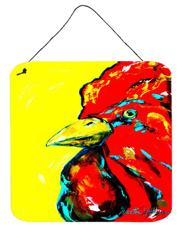 Buy this Bird - Rooster Big Head Aluminium Metal Wall or Door Hanging Prints