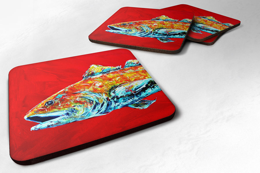 Buy this Set of 4 Fish - Red Fish Alphonzo Head Foam Coasters
