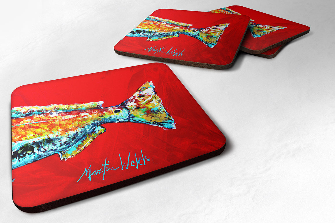 Buy this Set of 4 Fish - Red Fish Alphonzo Tail Foam Coasters